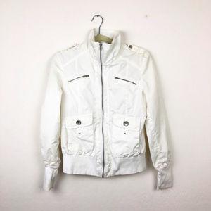 AMISU White Zip Up Jacket